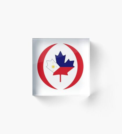 Filipino Canadian Multinational Patriot Flag Series Acrylic Block