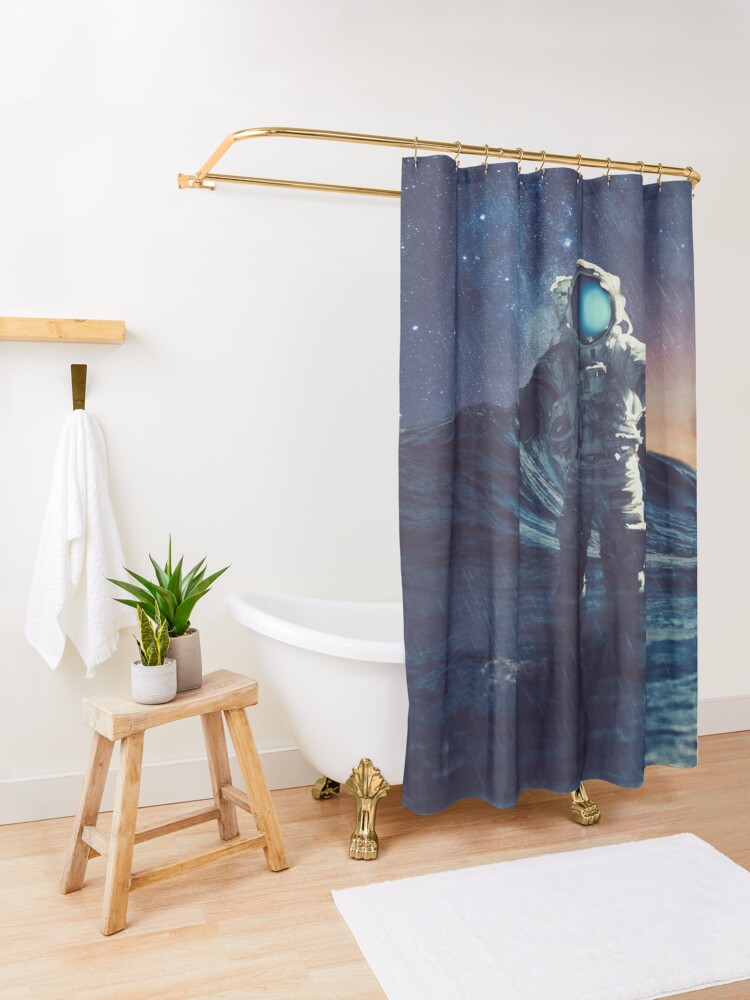 Alternate view of Stranded II Shower Curtain