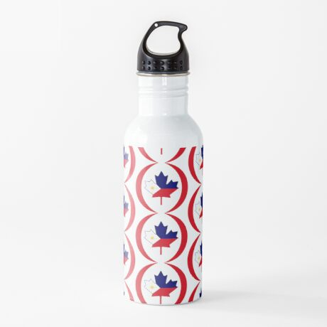 Filipino Canadian Multinational Patriot Flag Series Water Bottle