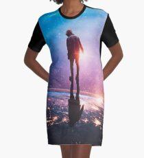 A World Away Graphic T-Shirt Dress