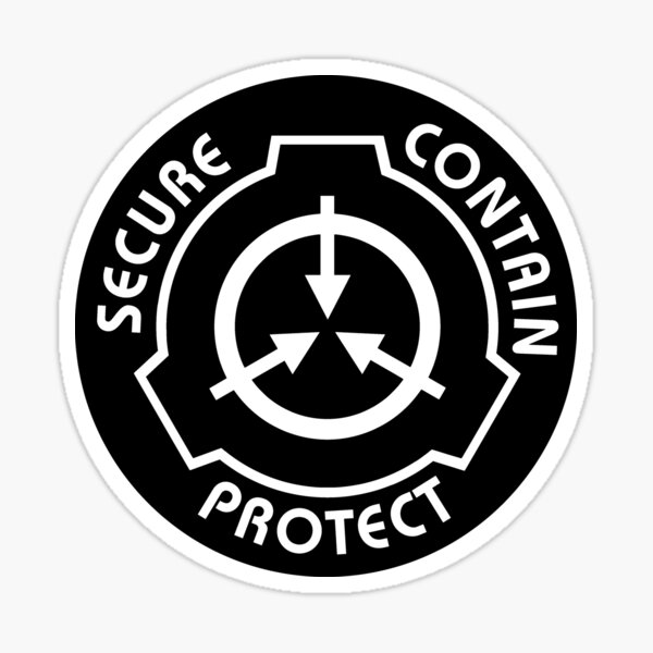 Secure Contain Protect SCP Foundation Emblem Sticker