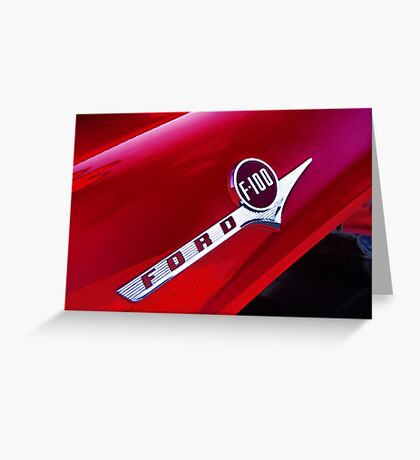 red ford f-100 pick-up truck Greeting Card