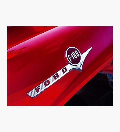 red ford f-100 pick-up truck Photographic Print