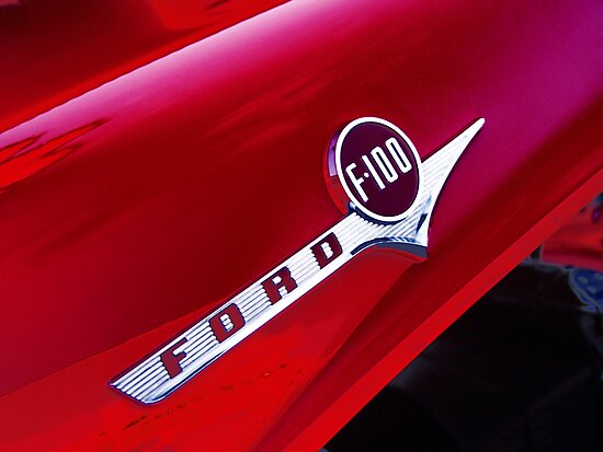 red ford f-100 pick-up truck by brian gregory