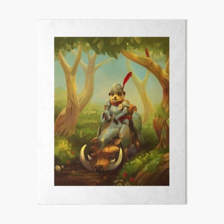 The Knight with No Worries  Art Board Print