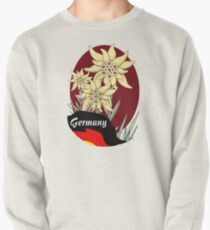 Bavarian Edelweiss cluster with German Flag Pullover Sweatshirt