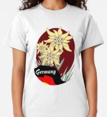 Bavarian Edelweiss cluster with German Flag Classic T-Shirt