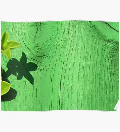 Green Wood Poster