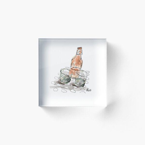 Compartamos un trago Bloque acrílico