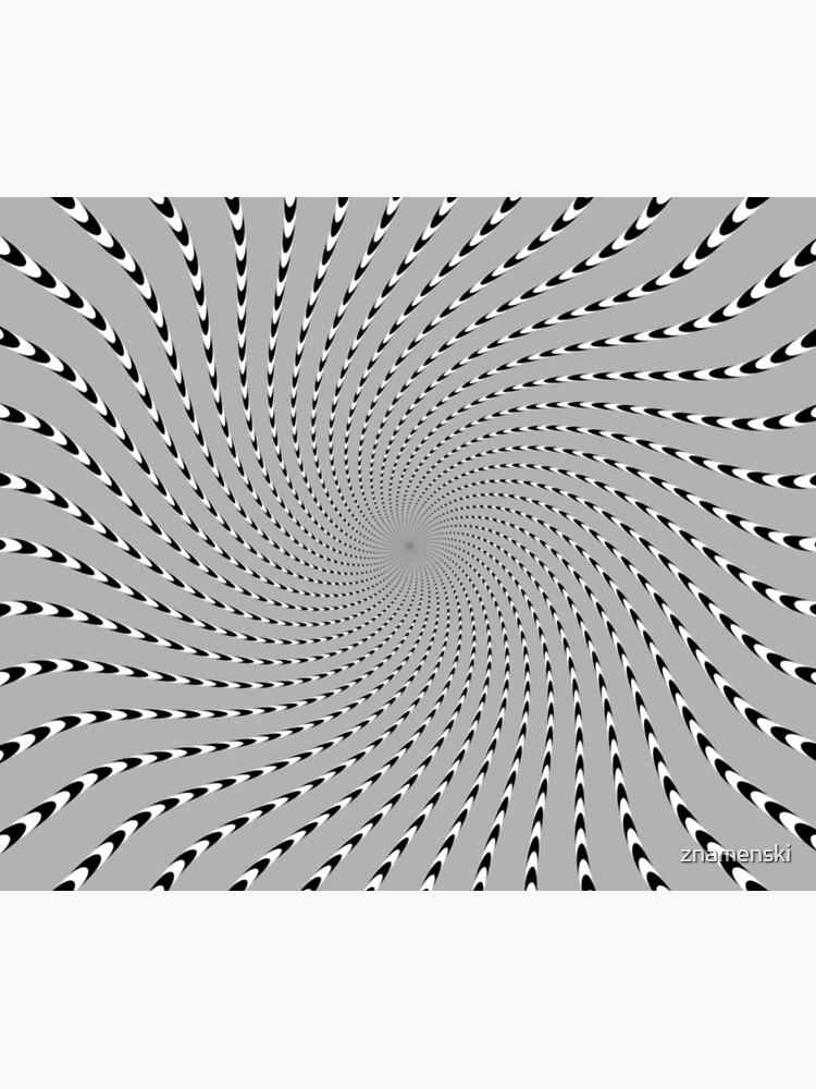 #Abstract, #pattern, #design, #psychedelic, shape, illustration, art, halftone, illusion, futuristic, geometry, vortex, horizontal, gray by znamenski