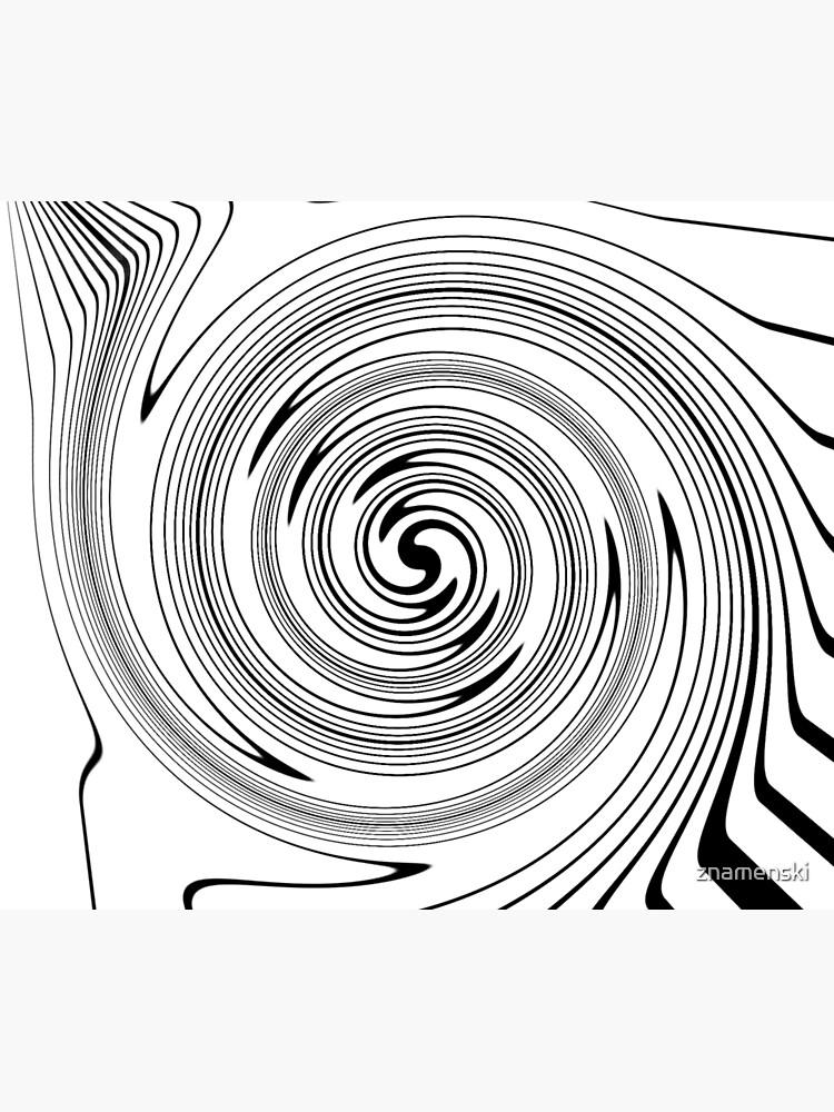 #Vortex, #spiral, #chalk out, #design, target, hypnosis, twirl, abstract, illustration, creativity, pattern, monogram, scribble, illusion by znamenski