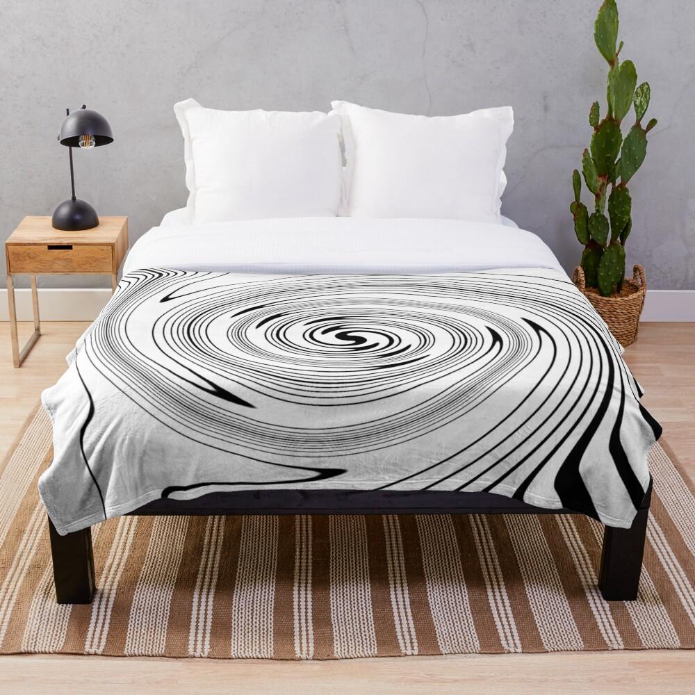 #Vortex, #spiral, #chalk out, #design, target, hypnosis, twirl, abstract, illustration, creativity, pattern, monogram, scribble, illusion Throw Blanket