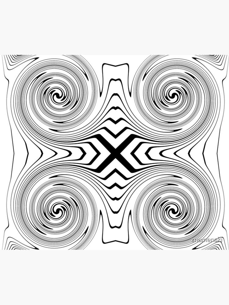 #Abstract, #vortex, #spiral, #illustration, design, shape, target, pattern, hypnosis, twirl by znamenski