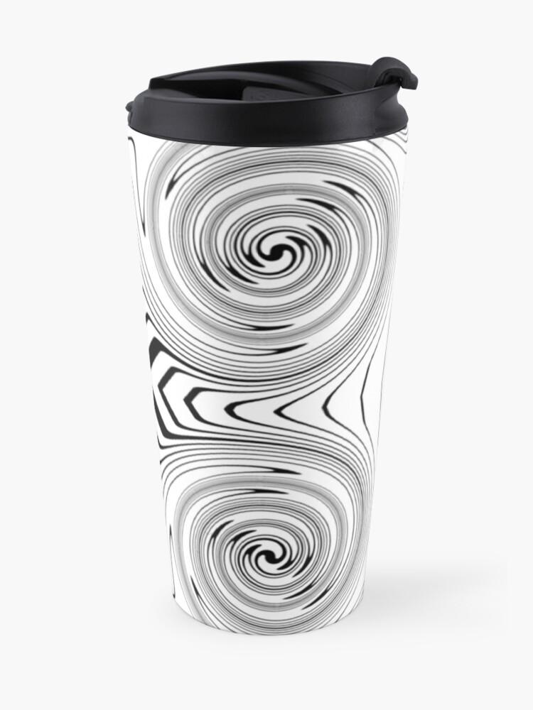 Alternate view of #Abstract, #vortex, #spiral, #illustration, design, shape, target, pattern, hypnosis, twirl Travel Mug