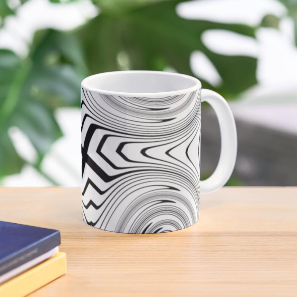 #Vortex, #abstract, #design, #spiral, illustration, shape, pattern, twirl, chalk out, scribble Mug