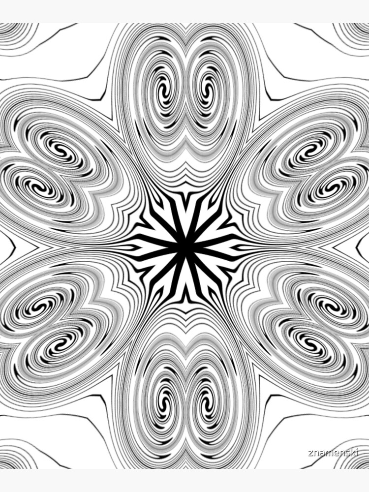#Pattern, #abstract, #design, #vortex, decoration, illustration, ornate, shape, curve, art by znamenski