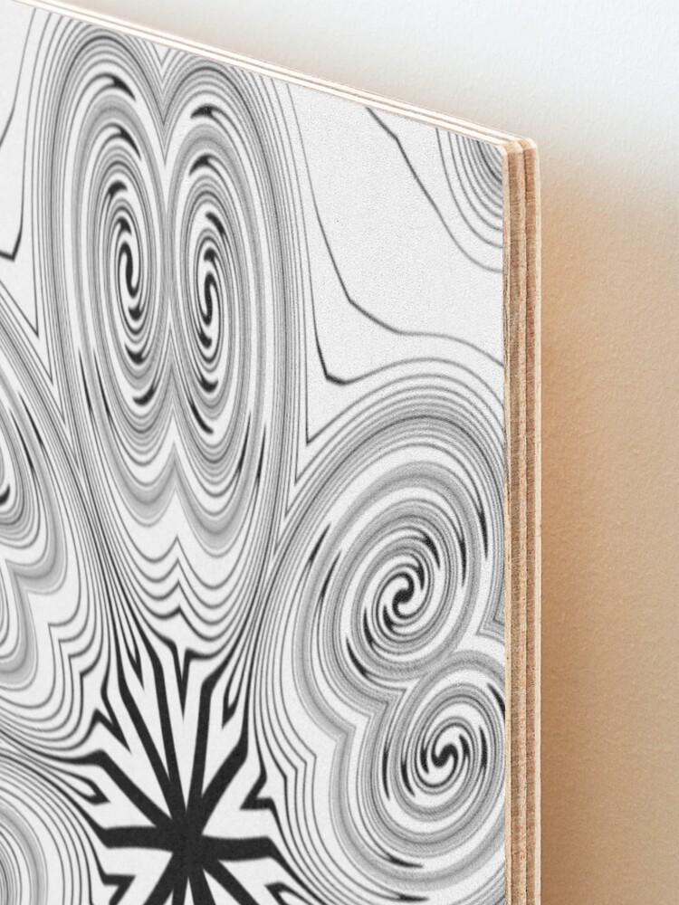 Alternate view of #Pattern, #abstract, #design, #vortex, decoration, illustration, ornate, shape, curve, art Mounted Print