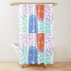 Mountain Faces Shower Curtain