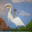 Knight and Egret  by Noelia Garcia