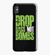 Drop Bass Not Bombs (Neon Green) iPhone Case/Skin