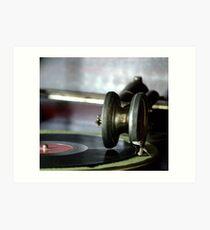Antique record player Art Print