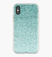 Blue Faux Glitter Ombre iPhone Case