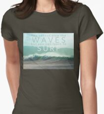 Surf Waves of Hawaii Womens Fitted T-Shirt