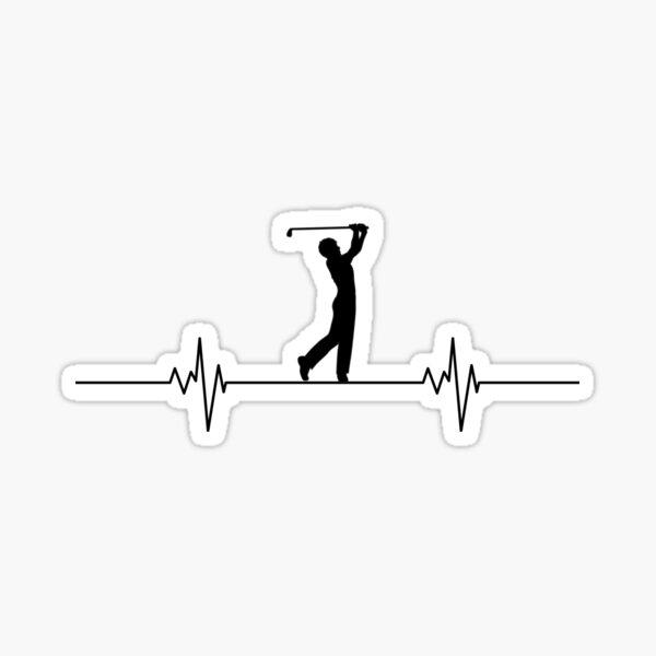 Golfing Heartbeat Sticker