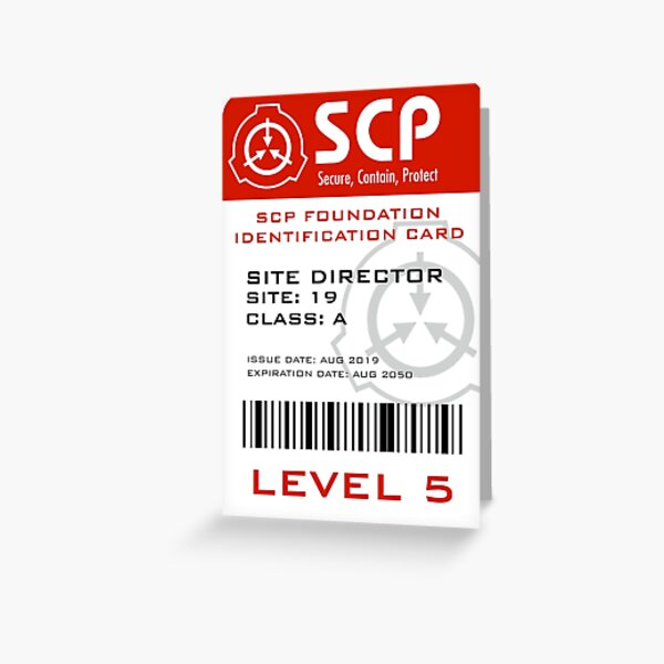 SCP Foundation Site Director Badge  Greeting Card