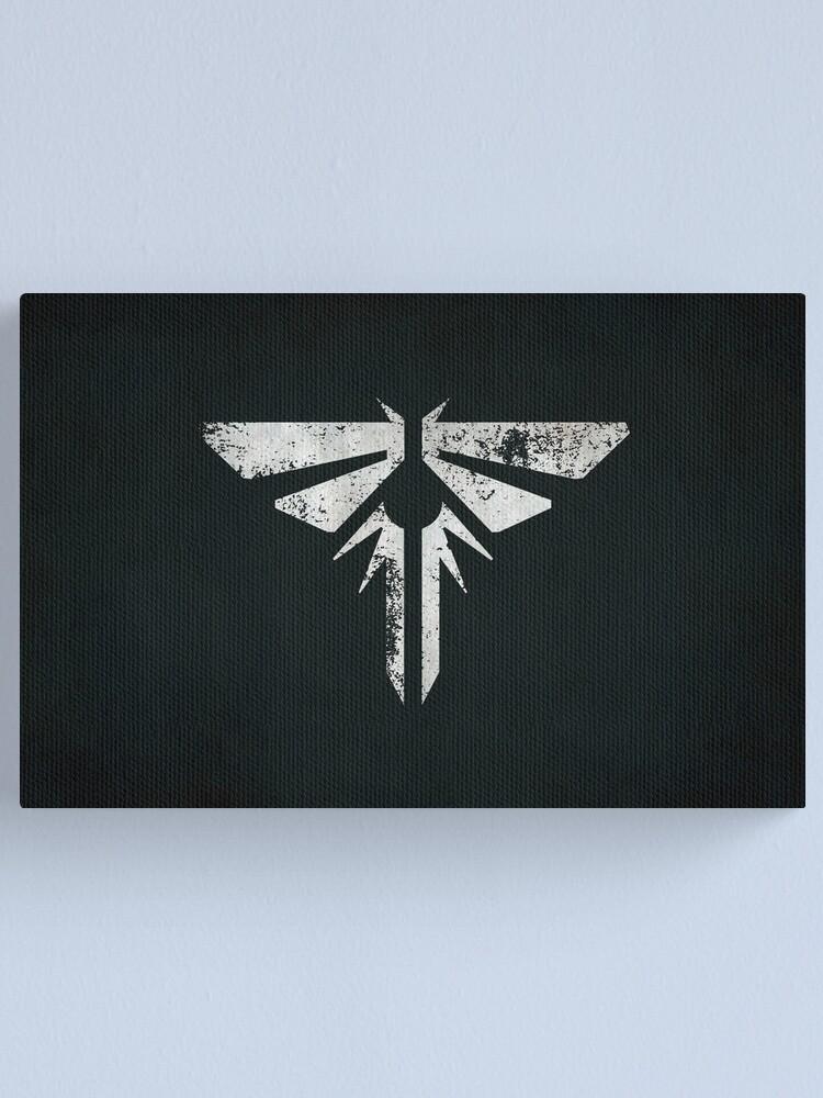 Alternate view of Fireflies Logo · Distressed Canvas Print