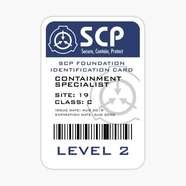 SCP Foundation Containment Specialist Badge  Sticker