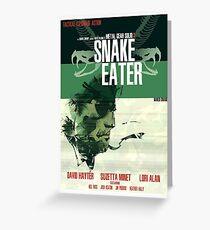Snake Eater - Metal Gear Greeting Card