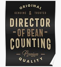 Director Of Bean Counting Poster
