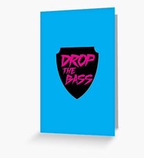 Drop The Bass Shield  Greeting Card