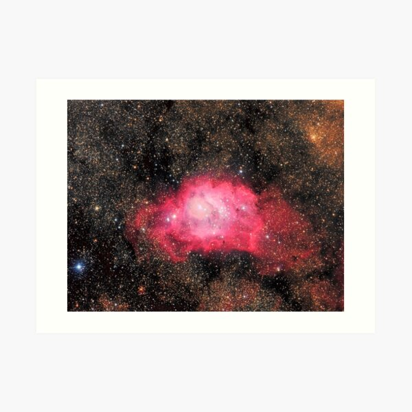 The Lagoon Nebula (M8) Art Print