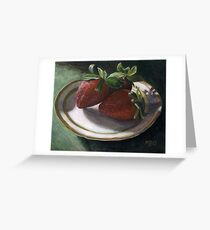 Strawberry Still Life Greeting Card