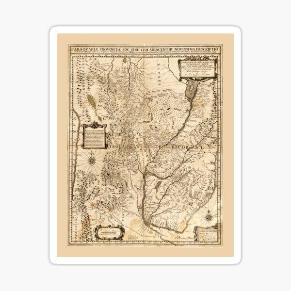 Map of South America (1732) Sticker