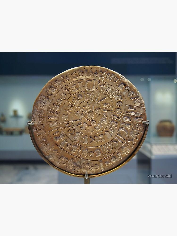 Phaistos Disc #PhaistosDisc #Phaistos #Disc, antique, ancient, wealth, old, copper, currency, brass, art, symbol by znamenski