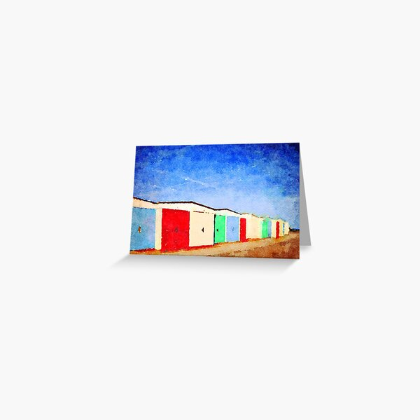 Devon Beach Huts Greeting Card