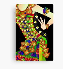 Details-2 (Balinese Dancer & Frangipani) Canvas Print
