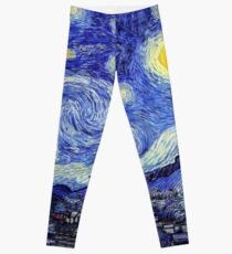 A Starry Night Inspiration Van Gogh Products Leggings