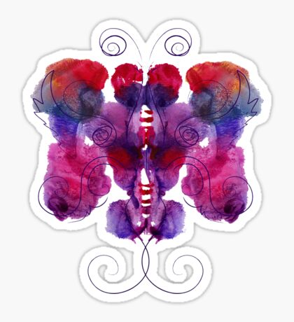 Violet Butterfly Sticker