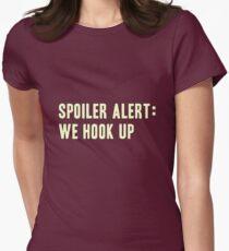 Spoiler Alert: We Hook Up (light lettering) Women's Fitted T-Shirt