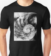 Black And White Nautilus Shell By Sharon Cummings Unisex T-Shirt