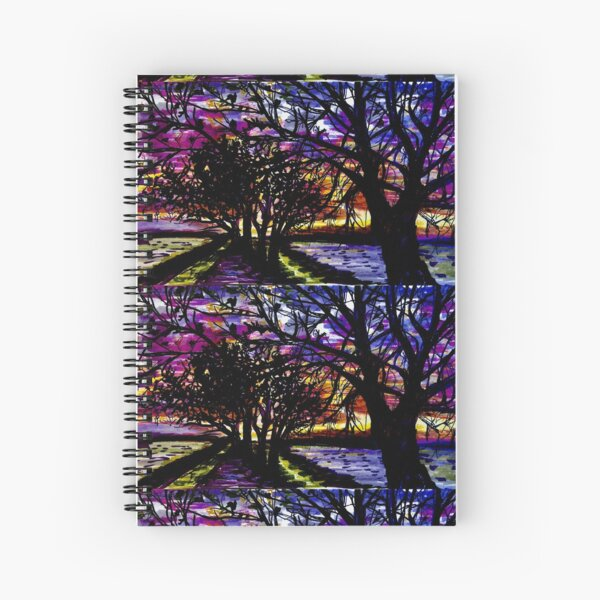 Lake Michigan Rises in the Trees Spiral Notebook