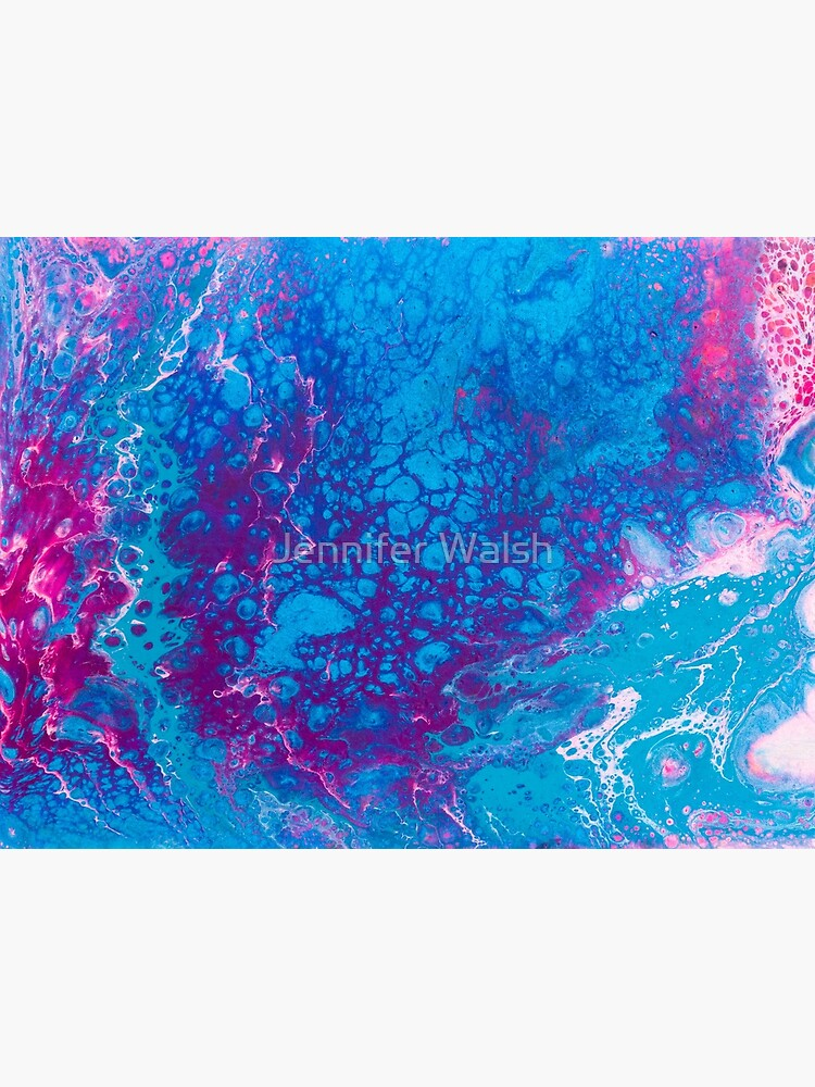 Smaller Reality - A Pink, Purple, Turquoise + Teal Abstract by InsertTitleHere