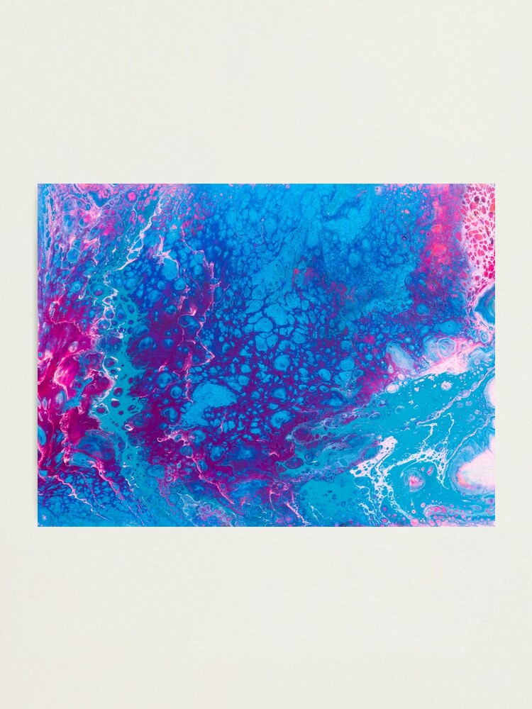 Alternate view of Smaller Reality - A Pink, Purple, Turquoise + Teal Abstract Photographic Print