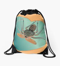 Amblypygi love - Acanthophrynus coronatus Drawstring Bag