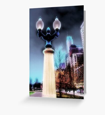 city lights, chicago Greeting Card