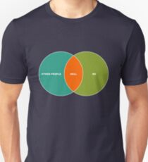 Hell is Other People - Venn Diagram Unisex T-Shirt